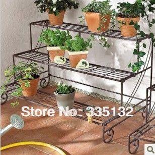 Superb China Wrought Iron Flower Pot Rack Design In Flower Pots U0026 Planters From  Home U0026 Garden On Aliexpress.com | ~The Great Outdoors~ | Pinterest | Pot  Rack, ...