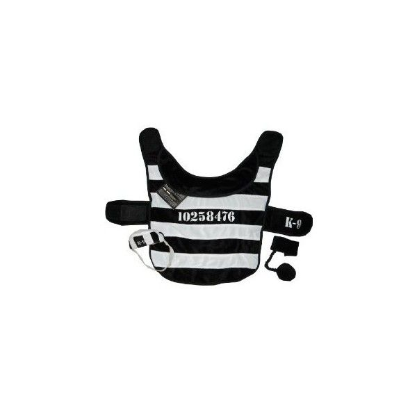 "Amazon.com: Halloween Dog Convict Costume ""Prisoner"" Small 8-11 Lbs: Kitchen & Dining ($4.99) found on Polyvore"