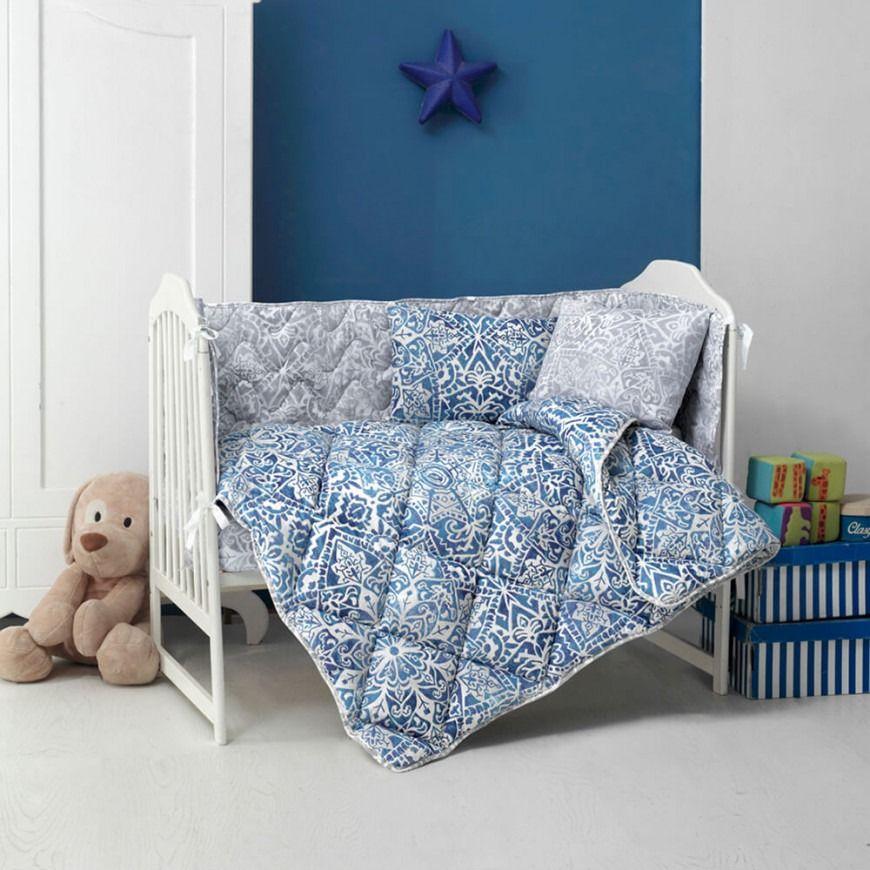 مفرش أطفال مواليد فيرونا أزرق عدد القطع 5 Toddler Bed Baby Bed Home Decor