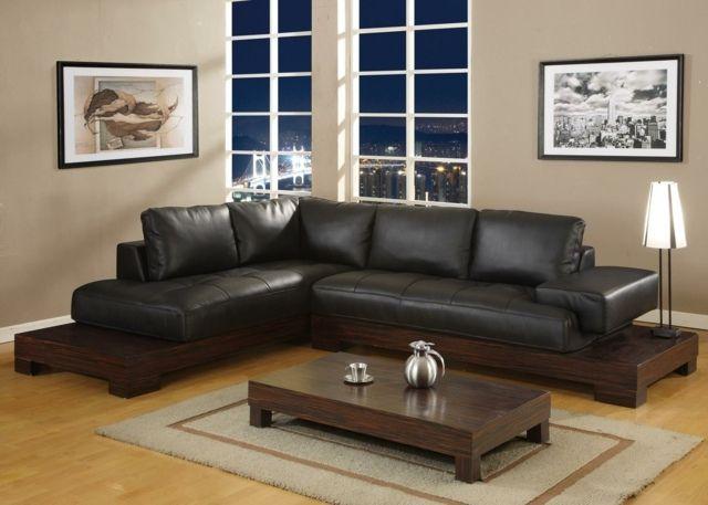 peinture salon marron 28 id es magnifiques pour l 39 int rieur salons en cuir meubles en cuir