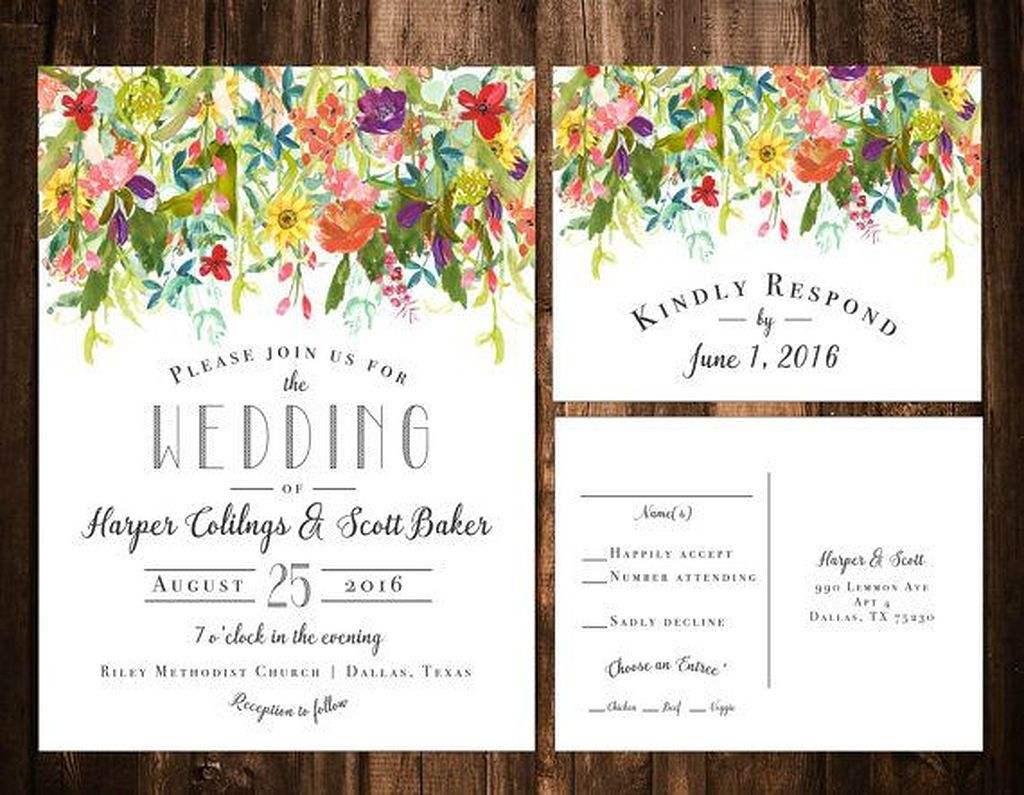 Nice 50+ Lovely Floral Wedding Invitation Ideas https://weddmagz.com/50-lovely-floral-wedding-invitation-ideas/