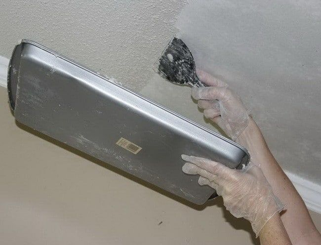 How to Remove a Popcorn Ceiling Home projects Pinterest