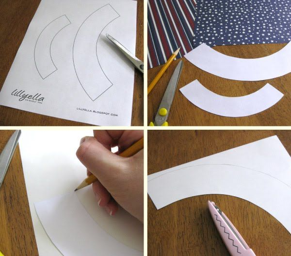 DIY cupcake Wrappers. ((@Niki Morgan -- you could make them from wrapping paper! or scrapbook paper! ))