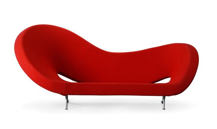 Canapé MOROSO Victoria And Albert Rouge Mobilier DESIGN - Canapé design rouge