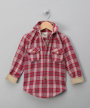 Take a look at this Red Plaid Jack Button-Up - Toddler & Boys by La faute à Voltaire on #zulily today!