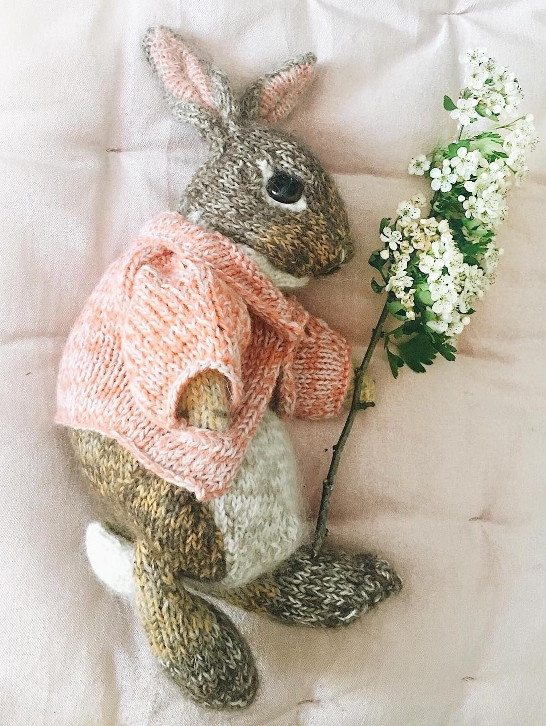 Knitted bunny rabit