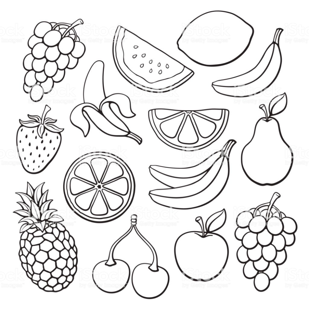 Doodles Set Of Fruits And Berries Royalty Free Doodle Stock Vector Fruits Drawing Doodle Drawings Fruit Doodle