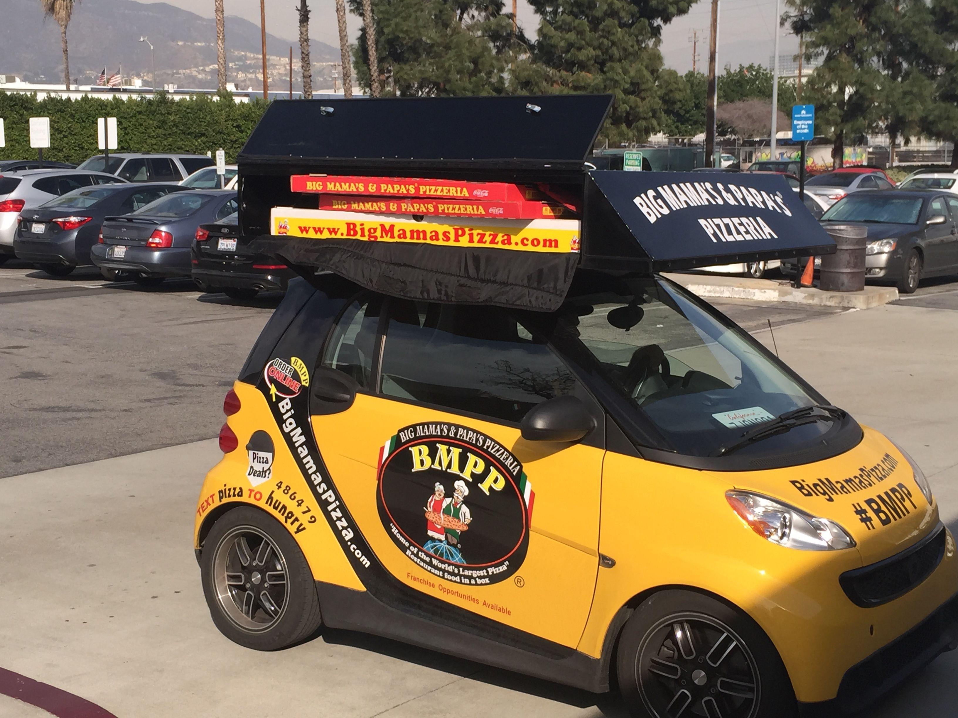 the original pizza delivery vehicle bmpp bmpp smart cars. Black Bedroom Furniture Sets. Home Design Ideas