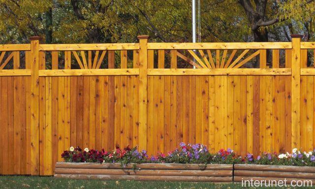 Fence ideas, types, installation, cost, design interunet Wood