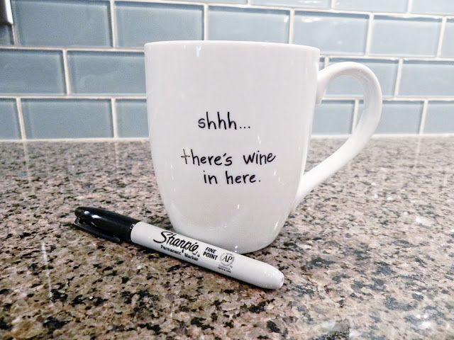 Spray Paint Chardonnay Diy Mug Diy Craft Pinterest Diy