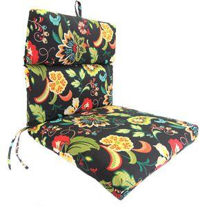 Jordan Manufacturing Universal Floral Chair Cushion Walmart Com Floral Chair Chair Cushions Outdoor Chair Cushions