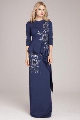 Tea Length Peplum Dresses