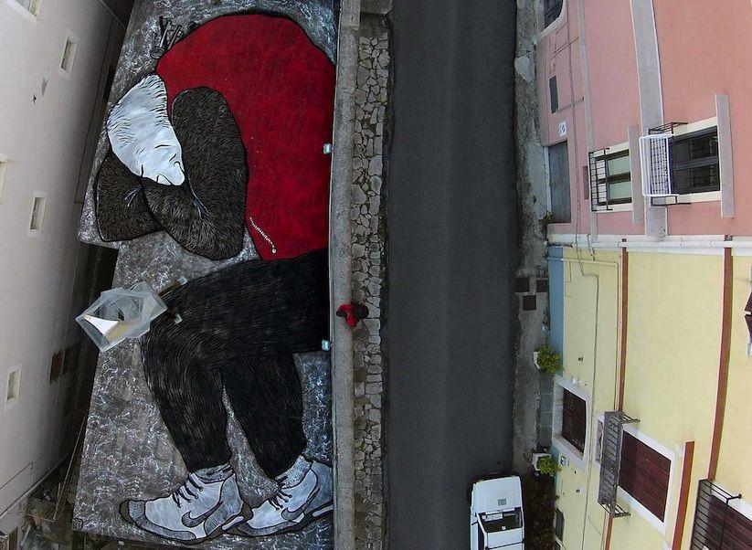 Das französische Streetart-Duo Ella & Pitr unterhielt uns in der ...