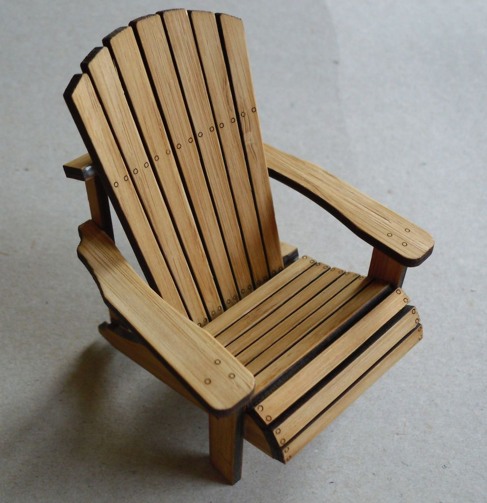 diy adirondack chair kit wedding covers hire durham bamboo scale model yes please miniatures parts for two laser cut chairs made from 25