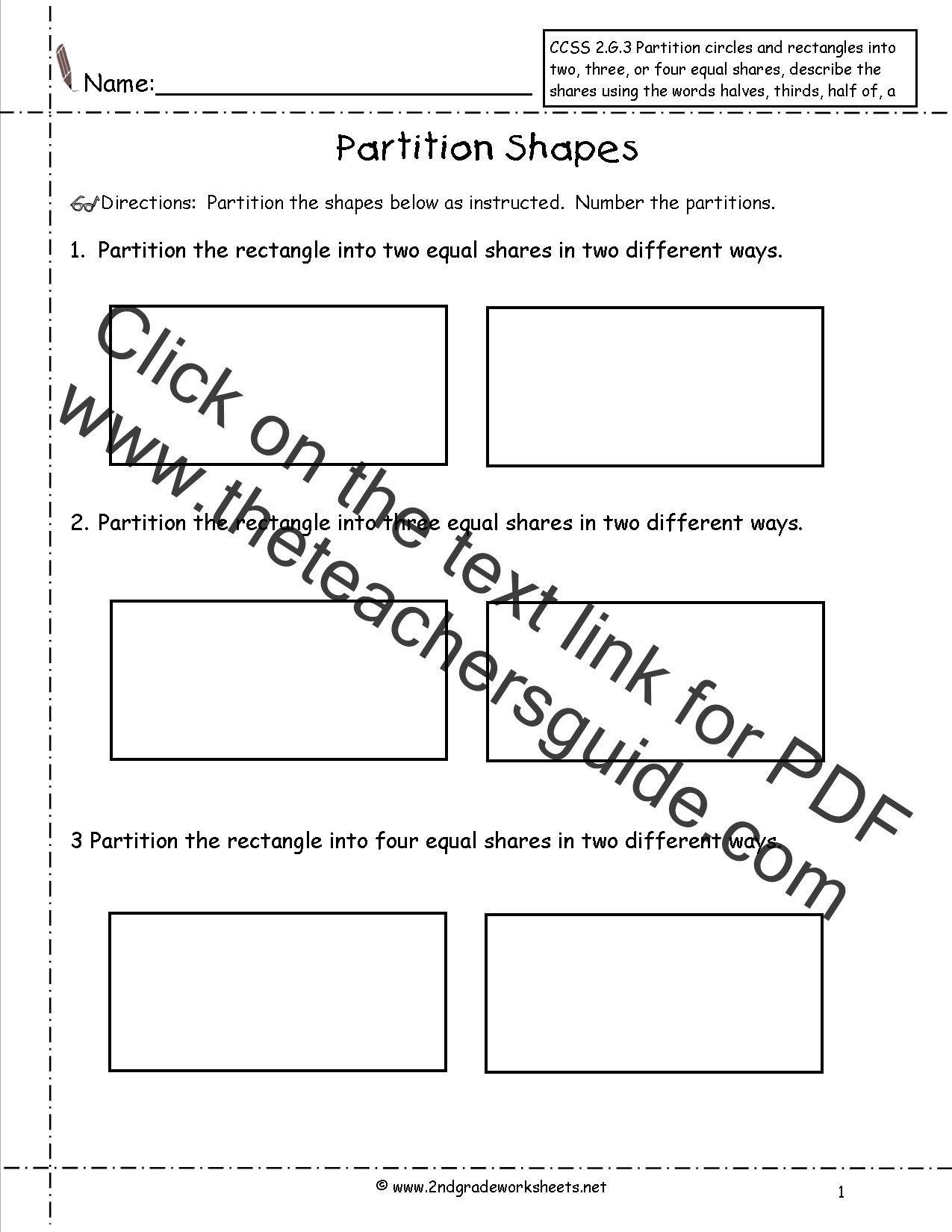 Second Grade Geometry Worksheets In