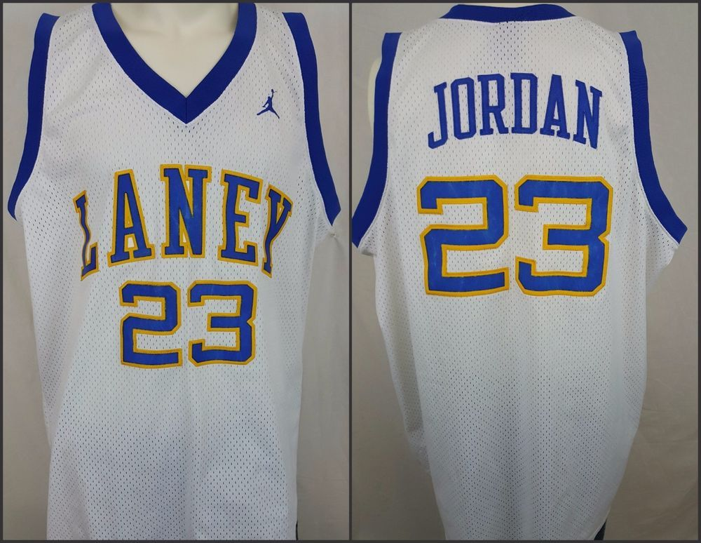 buy online 2b901 4a37c Michael Jordan #23 Laney High School Basketball Bucs Jersey ...