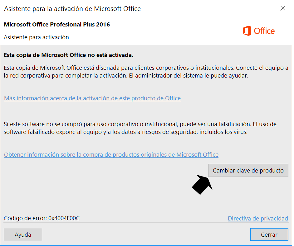 Activación de Ms Office