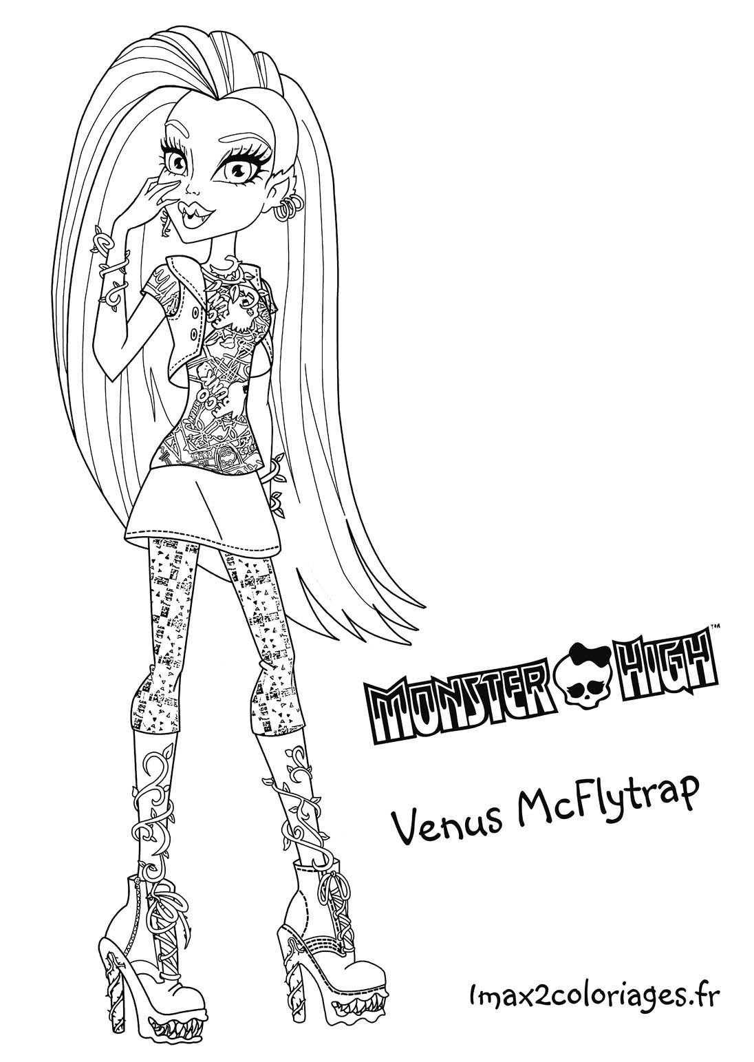 coloriage venus mcflytrap grande image monster highteenagersmonsterscoloring pages - Coloring Pages Monster High Venus