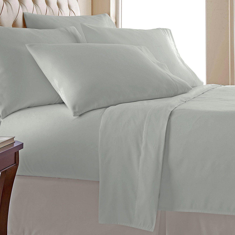 Pizuna Linens 400 Thread Count Sheet Set Luxury Bed Sheets Cotton Sheet Sets Bed Sheet Sets