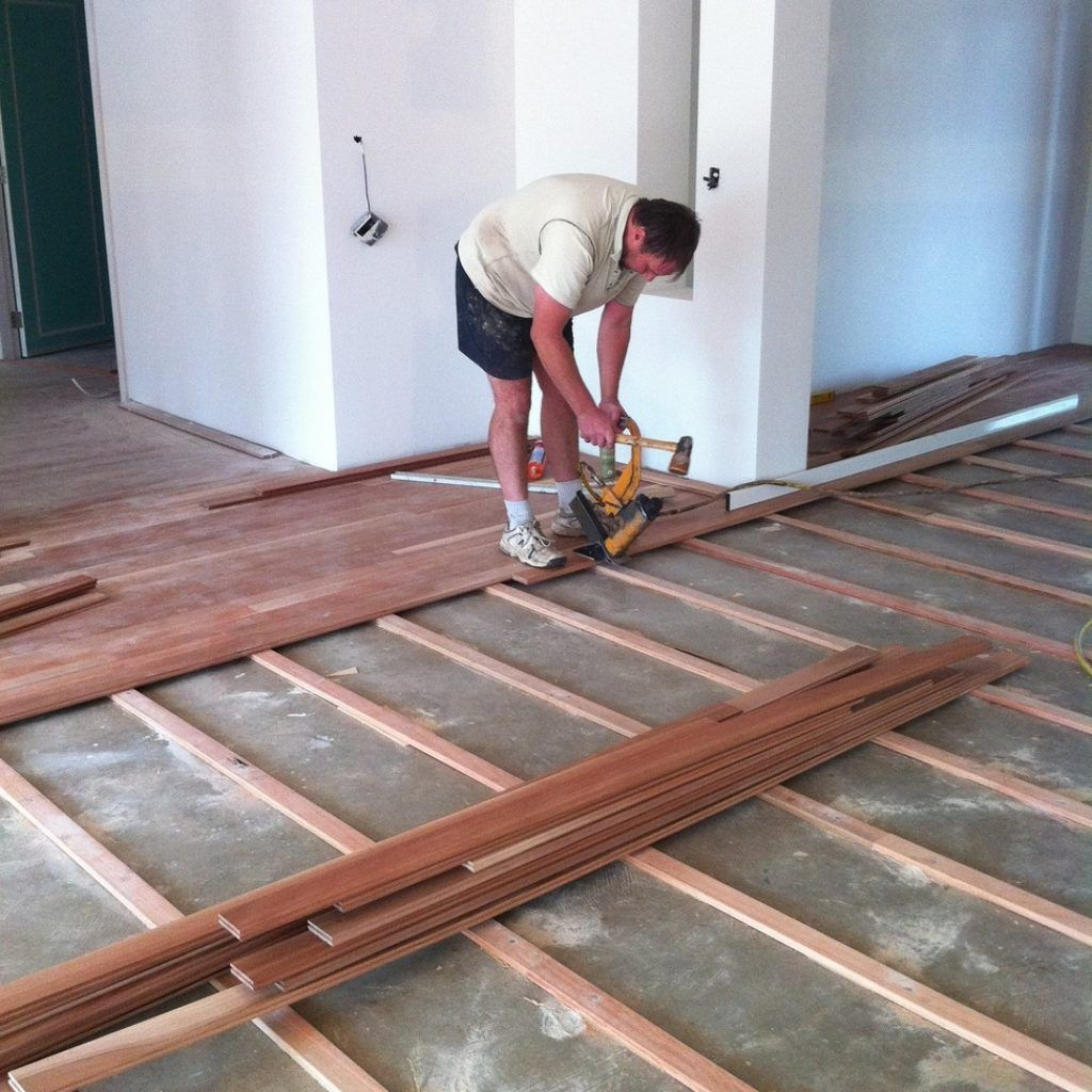 Floating Wood Floor Over Concrete Slab, How To Lay Flooring On Concrete