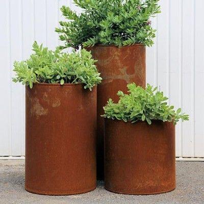 pot fleurs en acier corten my cone deco pinterest. Black Bedroom Furniture Sets. Home Design Ideas