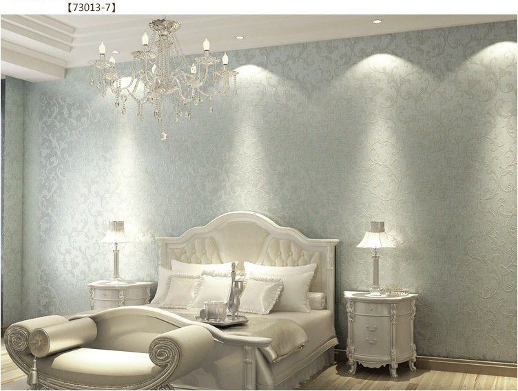 walpaper vintage european silver nonwoven bedroom wallpaper textured glitter metallic wallpaper