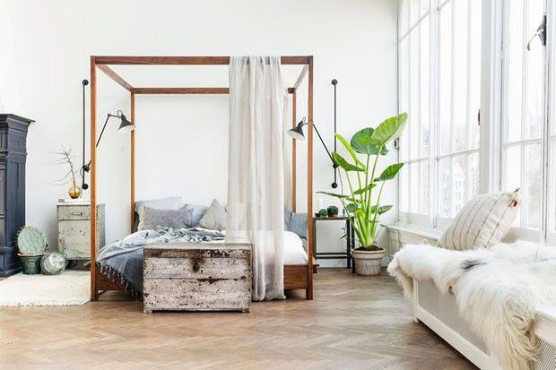 Lit  baldaquin chambre moderne  Chambre  Inspiration chambre a coucher Loft et Dcoration loft