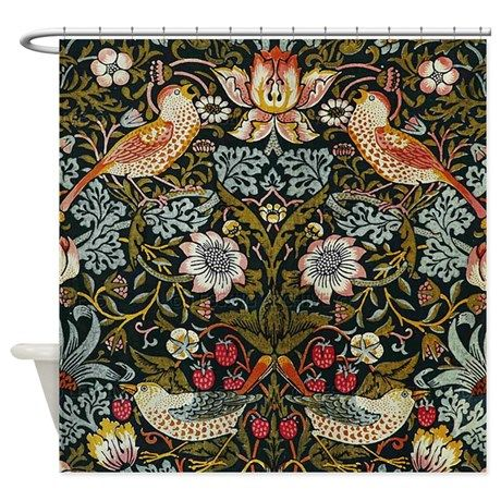 William Morris Strawberry Thief Shower Curtain By Fineartdesigns
