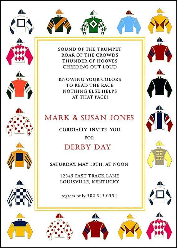 kentucky derby party invitation horse racing invitation