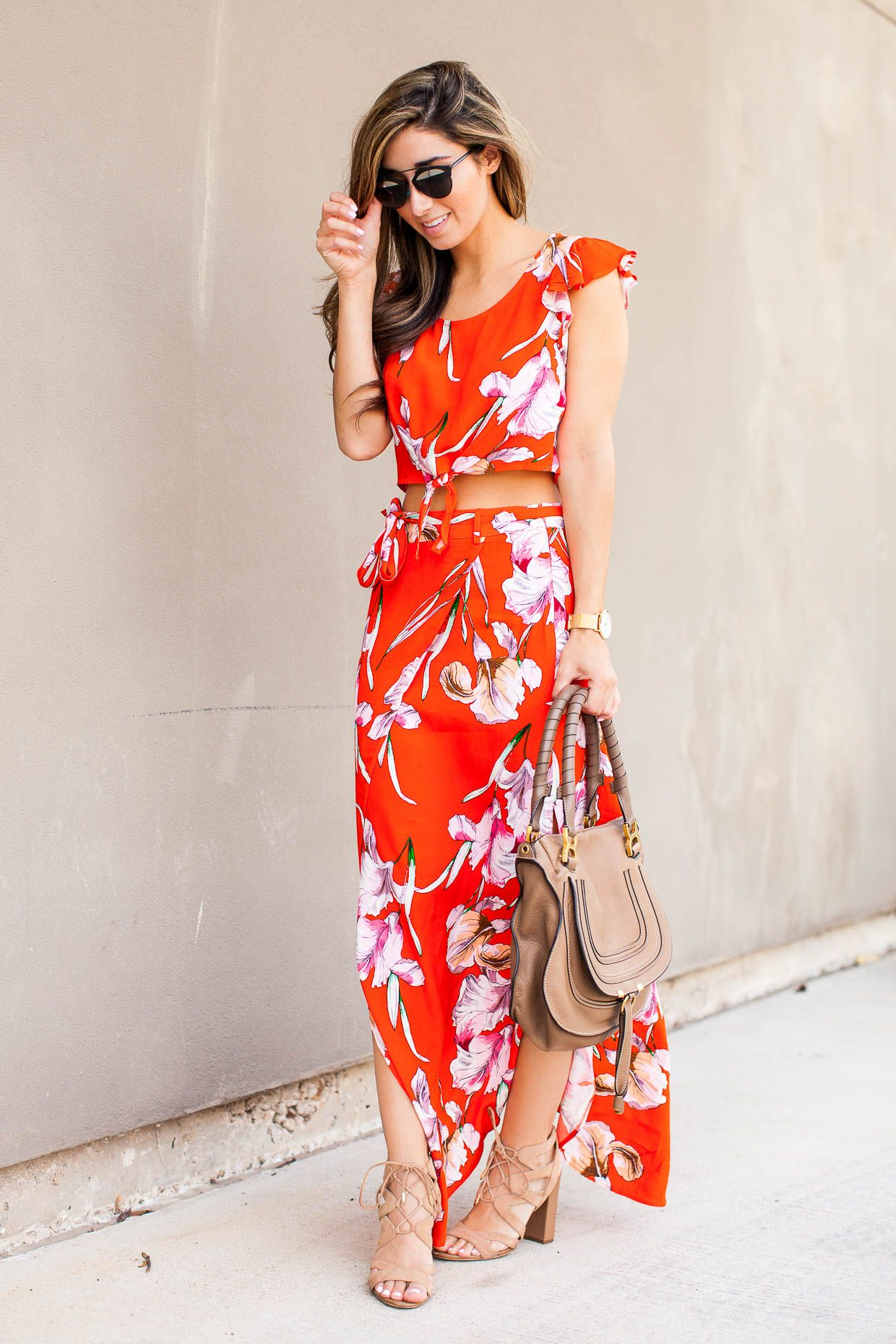 e9952cb7ddb Fashion blogger The Darling Detail carrying the Chloe Marcie Satchel ...