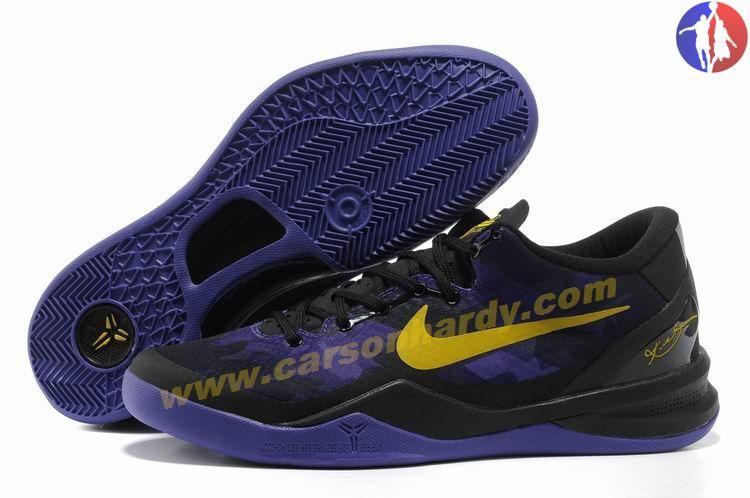 meilleures baskets 8a2f4 9d008 New Black Purple Yellow Style Nike Zoom Kobe VIII (8) 555035 ...