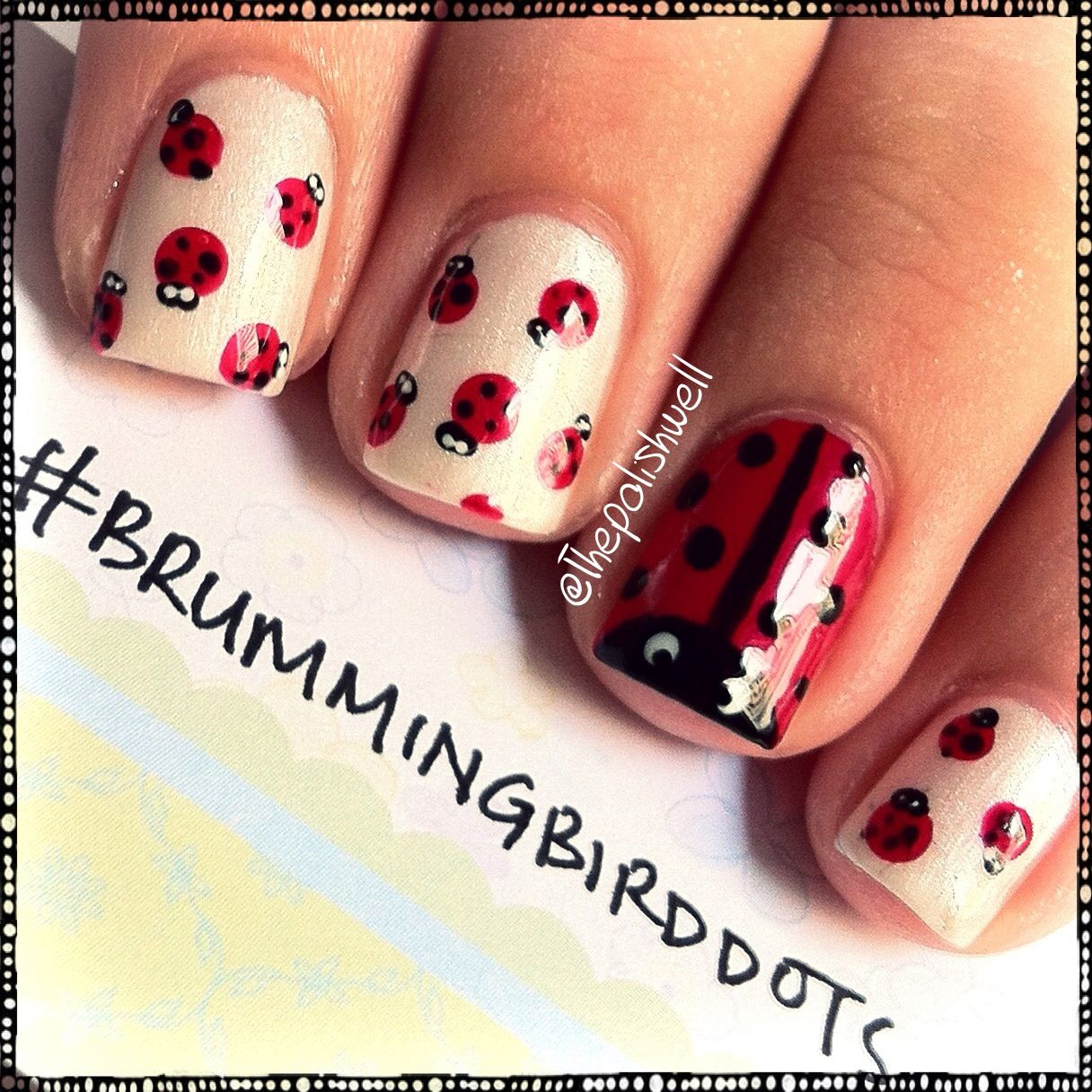 Uñas Pintadas De Catarina Nails Pinterest Ladybug Nails Nails