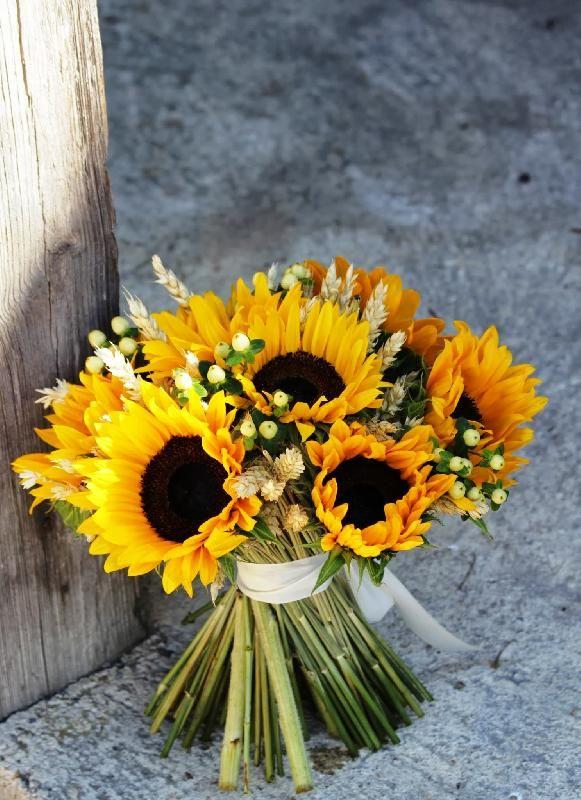 mariage bouquet de tournesol