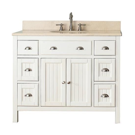 Bathroom Vanities 42 Inches Wide 43 Inch French White