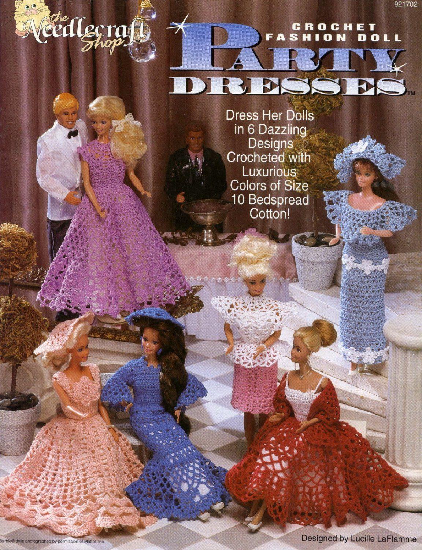 17.Barbie+fashion+doll+dress+crochet+pattern+in+pdf | Barbie fashion ...