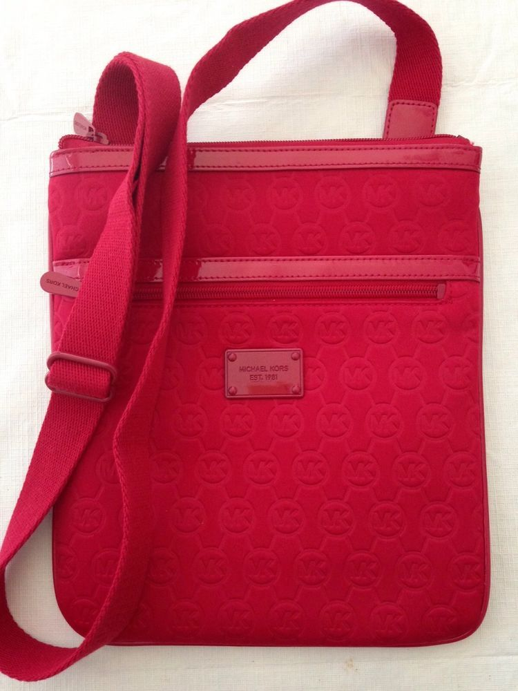 michael kors red ipad carrier case bag purse neoprene crossbody zip rh pinterest com