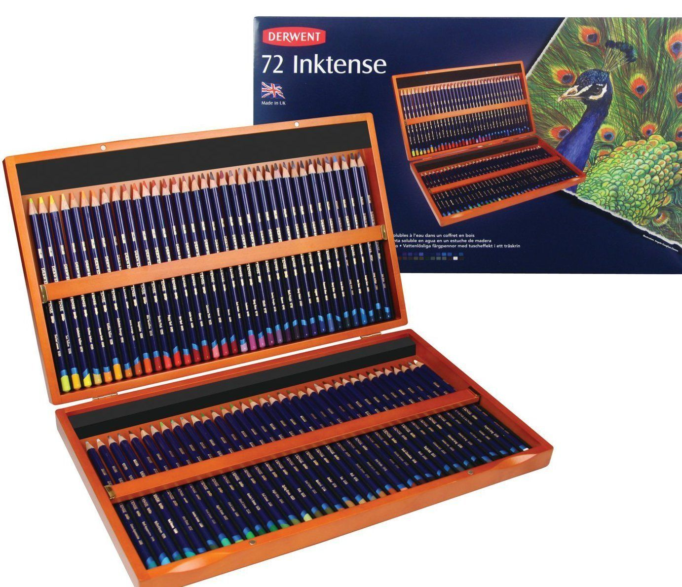 Amazon Com Derwent Inktense Pencils 4mm Core Wooden Box 72