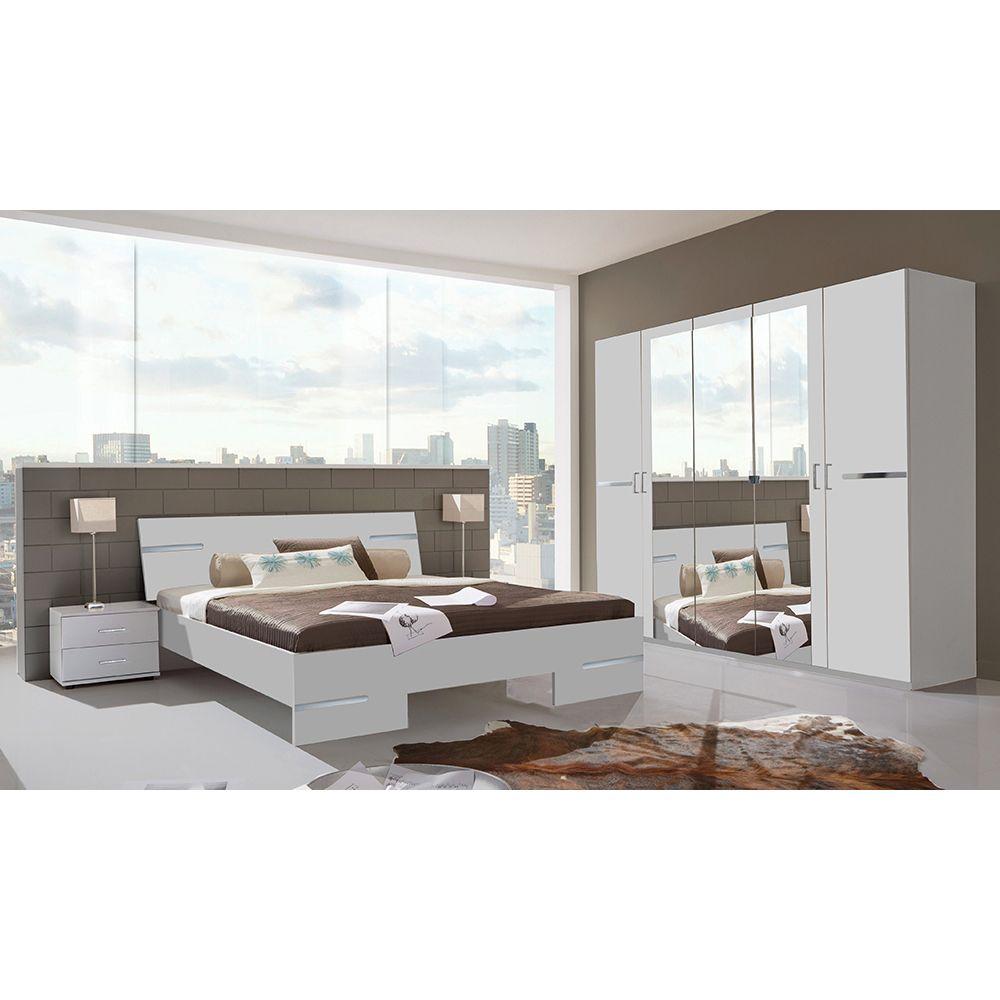 Schlafzimmer Set Anna Bett 160x200 mit 5trg. Kleiderschrank ...