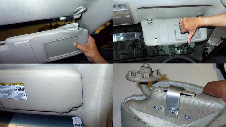 Toyota Corolla Sun Visor Repair  6a3750b1b45
