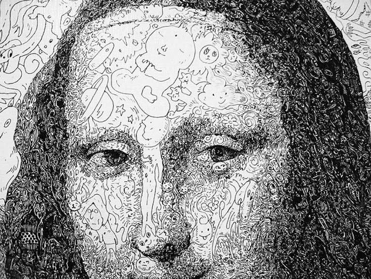 Mona Lisa Doodle