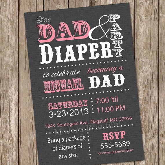 image about Free Printable Diaper Party Invitations called Father diaper child shower invitation,gentleman boy or girl shower, diapers