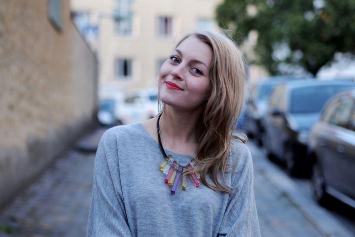 Loving that necklace   Photo: Jenni Rotonen / Pupulandia