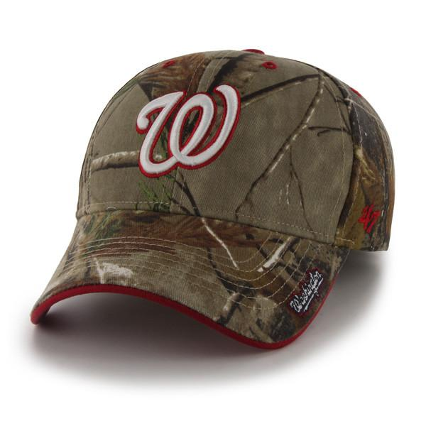 Washington Nationals 47 Brand Realtree Camo Frost MVP Adjustable Hat ... bf3dd6400ea