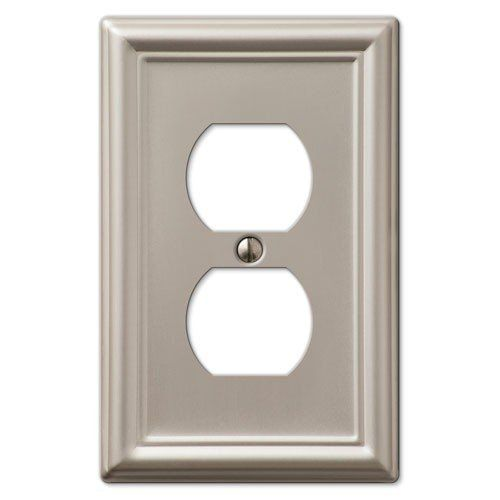 Decorative Wall Switch Outlet Cover Plates Brushed Nicke Plates On Wall Outlet Covers Decorative Outlet Plates