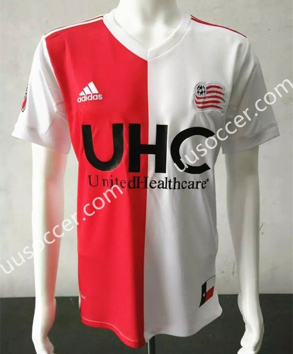wholesale dealer e8eaa 2406c 2017-18 New England Revolution Red and White Thailand Soccer ...