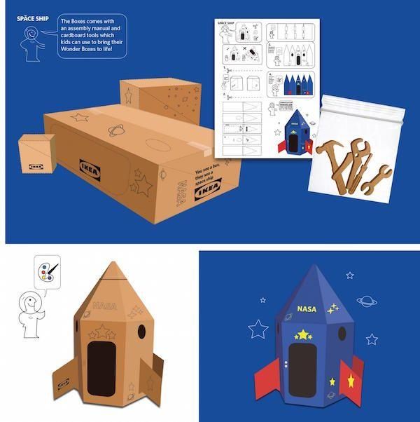 Ikea Redisena Sus Cajas Para Transformarlas En Naves Espaciales