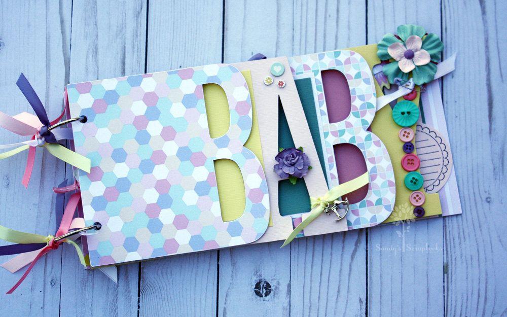 Pastel Baby Girl Scrapbook Baby Girl Gift Idea Baby Shower