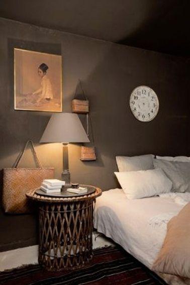 Chambre taupe et couleur lin, idées déco ambiance zen Pinterest