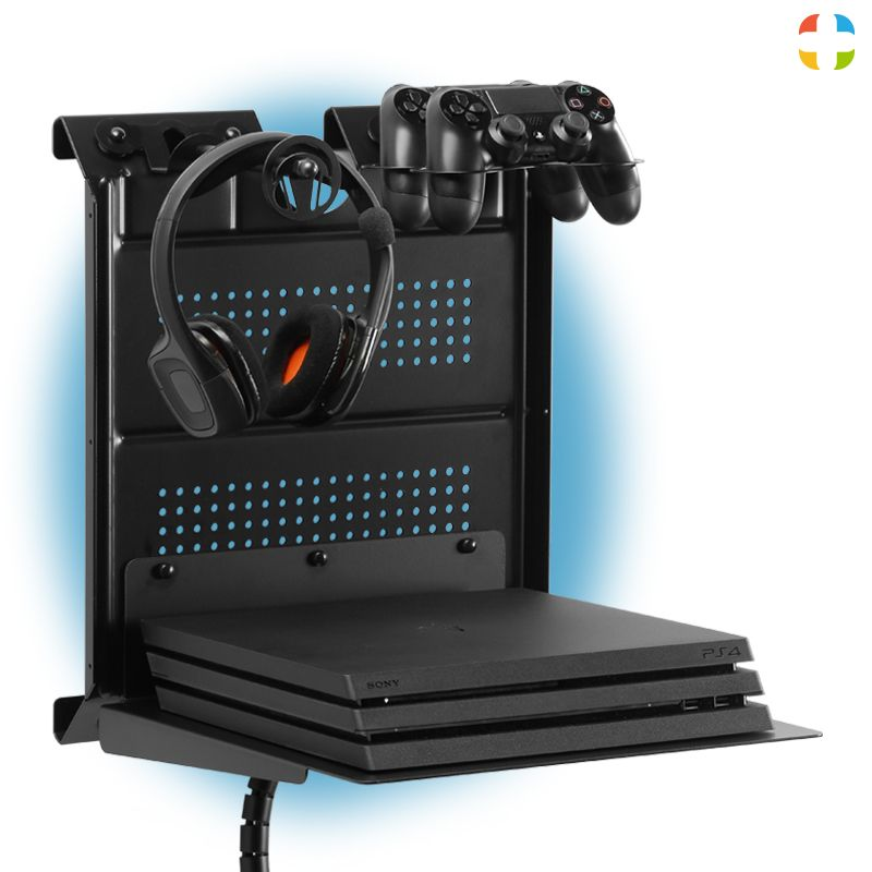 Check Out This Gameside Game Console Horizontal Wall Mount With Multicolor Led Light Create For Your Passion Game Game Room Decor Game Room Design Console