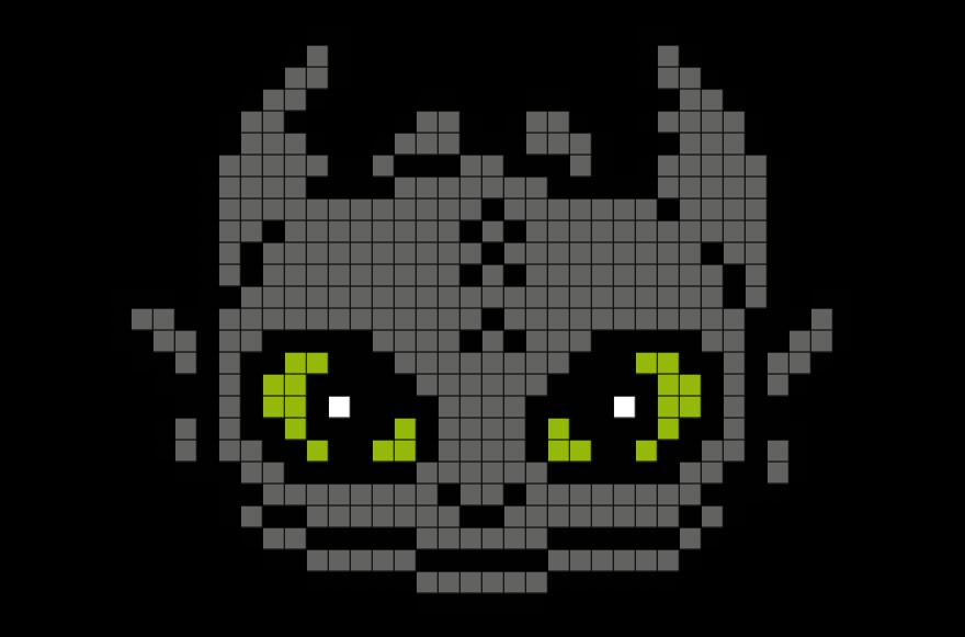 Toothless Pixel Art Pixel Art Templates Pixel Art Grid Minecraft Pixel Art
